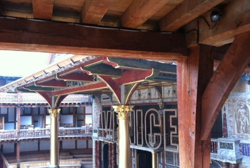 toneel The Globe in Londen -Shakespeare quiz - Engels Klaslokaal