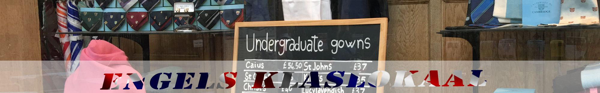 studententoga's cambridge header engels klaslokaal
